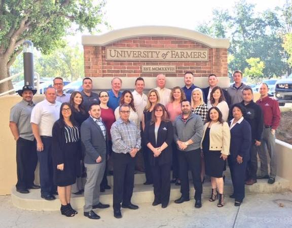 Group photo of Farmers Insurance Agents at the University of Farmers