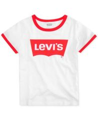 Image of Levi's® Big Girls Retro Ringer Cotton T-Shirt