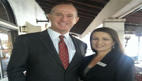 Eileen Ferrufino,Farmers® Agent with Tom Tait Mayor of the City of Anaheim