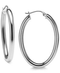Image of Giani Bernini Polished Hoop Earrings in Sterling Silver, Created for Macy's