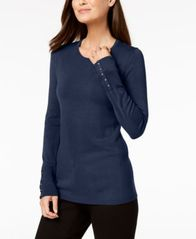 Image of JM Collection Studded-Cuff Sweater, Created for Macy's