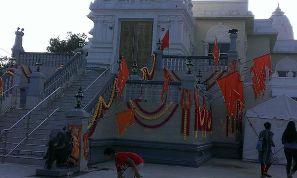 Bharatiya Temple decorated for Ganesh Festival