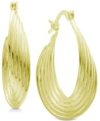 Image of Essentials Multi-Layer Twisted Oval Hoop Earrings