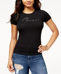 Image of GUESS Embellished Logo T-Shirt