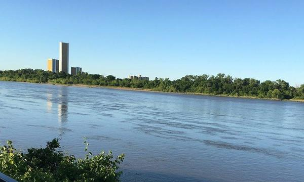 The Arkansas river, taken by my producer Ruth Herring
