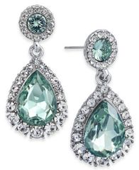 Image of Charter Club Silver-Tone Pavé & Colored Crystal Drop Earrings, Created for Macy's