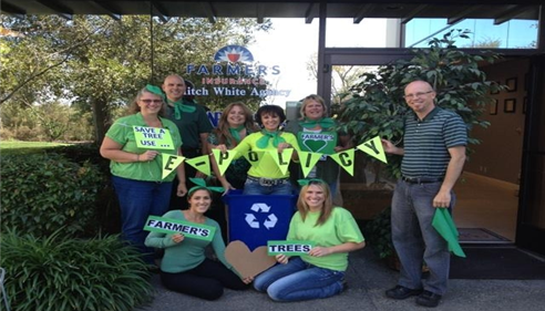 Our Team Going Green!