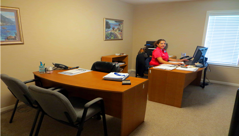 Inside our office - Personal Sales & Service