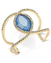 Image of I.N.C. Pavé & Colored Stone Open Cuff Bracelet, Created for Macy's