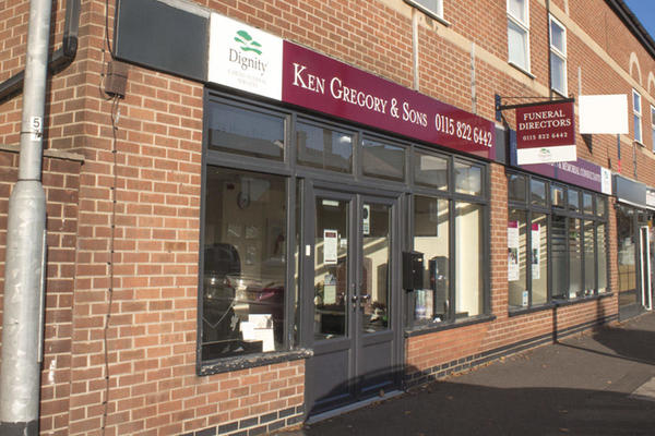 Ken Gregory & Sons Funeral Directors in Carlton, Nottingham.