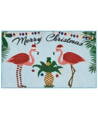 "Image of Nourison Flamingo Holiday 18"" x 30"" Accent Rug"