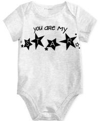 Image of First Impressions My Star Cotton Bodysuit, Baby Boys & Girls, Created for Macy's
