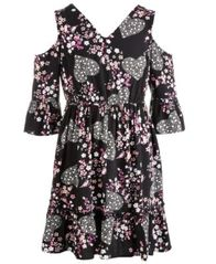 Image of Epic Threads Big Girls Crochet-Trim Floral-Print Dress, Created for Macy's