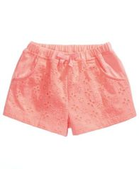 Image of First Impressions Cotton Eyelet Shorts, Baby Girls