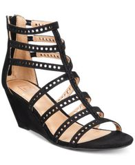 Image of Material Girl Harriette Wedge Sandals, Created for Macy's