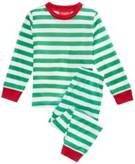 Image of Matching Family Pajamas Holiday Stripe Pajama Set, Available in Toddler and Kids, Created For Macy's