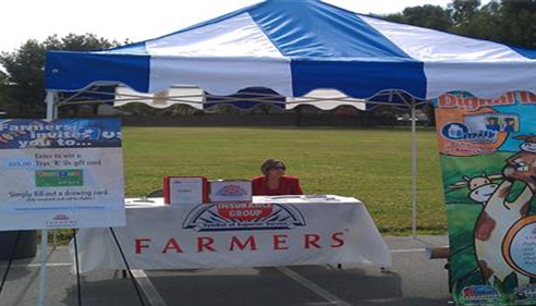 Lourdes proudly representing Farmers® at the Niemes Elementary Go Green Festival