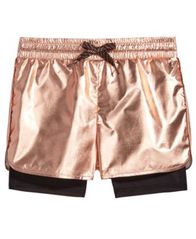 Image of Ideology Metallic Layered-Look Shorts, Toddler Girls, Created for Macy's