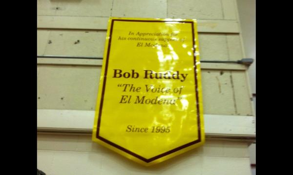 Banner in the El Modena Gym