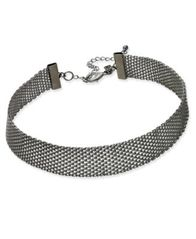 Image of INC International Concepts Hematite-Tone Mesh Choker Necklace, Created for Macy's