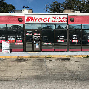 Front of Direct Auto store at 1313 West Oak Ridge Road, Orlando