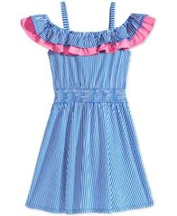 Image of Epic Threads Striped Ruffle-Trim Dress, Big Girls, Created for Macy's