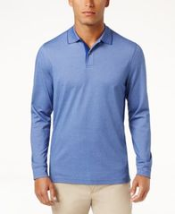 Image of Tasso Elba Men's Supima® Blend Long-Sleeve Polo, Created for Macy's