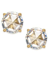 Image of kate spade new york 14k Gold-Plated Crystal Stud Earrings