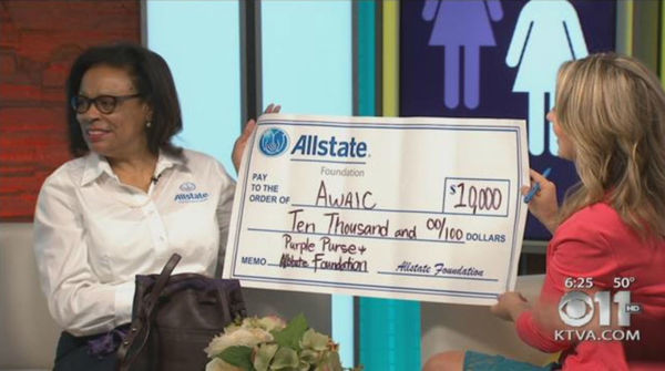 M. Diane Johnson - Allstate Foundation Helping Hands Grant for Abused Women's Aid in Crisis