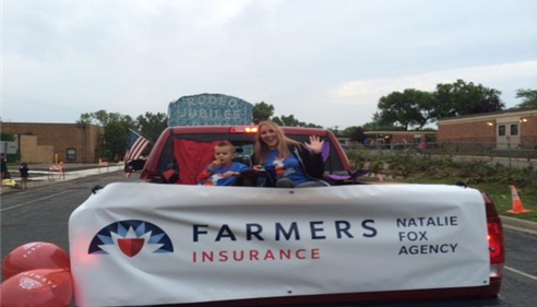 Agent's float in Stockyard Days Parade