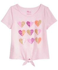 Image of Epic Threads Sequin Hearts T-Shirt, Big Girls, Created for Macy's