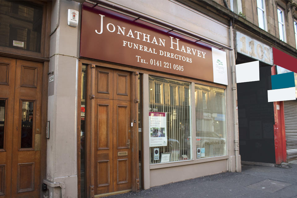 Jonathan Harvey Funeral Directors in 1101 Argyle Street, Glasgow