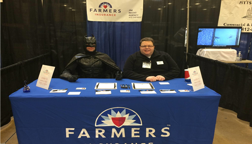 The Monroeville Home Show with Jim Recht and the Caped Crusader, Batman.