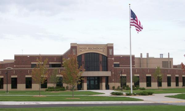 The front of New Richmond High School.