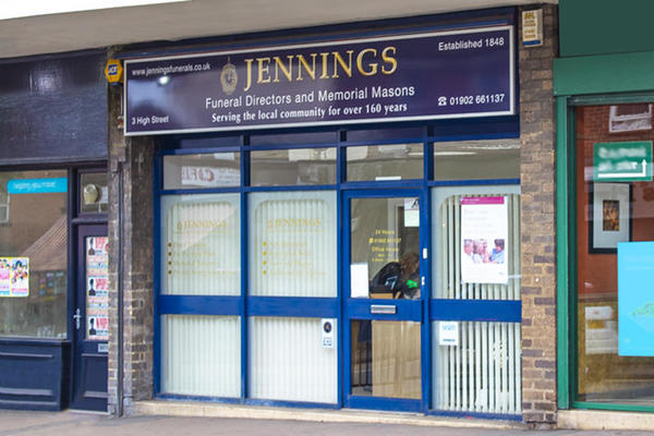 Jennings Funeral Directors in Sedgley, Dudley