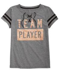 Image of Ideology Player-Print Lace-Up T-Shirt, Big Girls, Created for Macy's