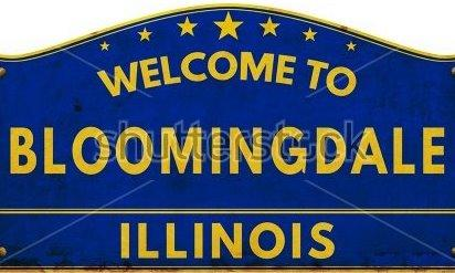 Sign reading Welcome to Bloomingdale Illinois.