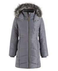 Image of Calvin Klein Everest Puffer Jacket with Faux-Fur Trim, Big Girls