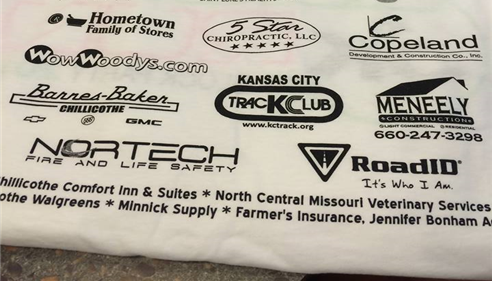 Local Sponsors of the 2014 Glow Run.