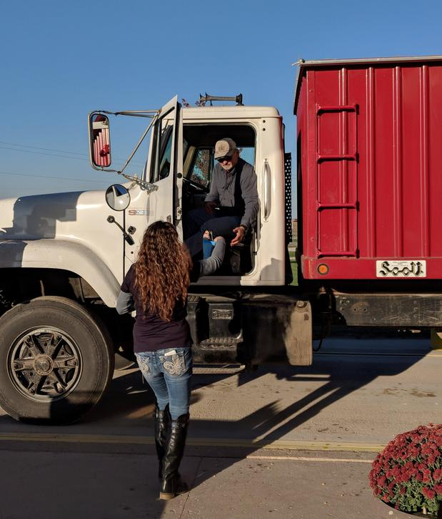 Man stepping out of truck