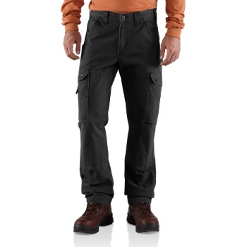 Image of COTTON RIPSTOP RELAXED FIT DOUBLE-FRONT CARGO WORK PANT
