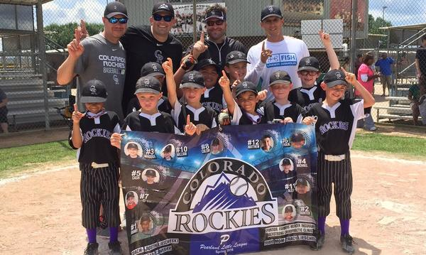 Happy to sponsor the Pearland Rockies little league team - they made it to District!