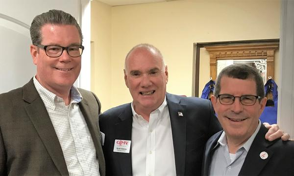 Bill, Scott Adams-GLMV Pres/CEO, Mayor Terry Weppler-Libertyville