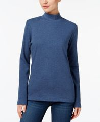 Image of Karen Scott Cotton Mock-Neck Top, Created for Macy's