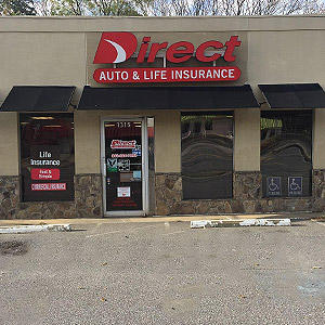 Front of Direct Auto store at 1315 Cherry Road, Rock Hill