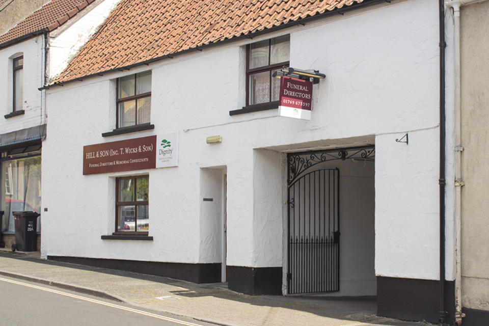 Hill & Son Funeral Directors in Wells, Somerset.