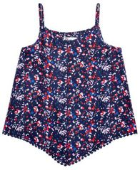 Image of Epic Threads Printed Pom Pom-Trim Tank Top, Big Girls, Created for Macy's
