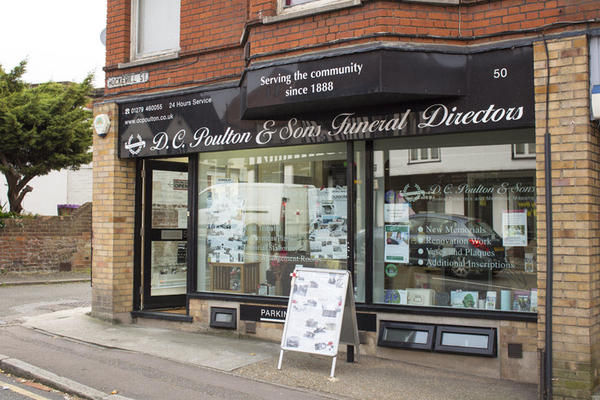D C Poulton & Sons Funeral Directors in Bishop's Stortford, Essex.