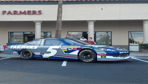 #5 Kasey Kahne car at our front door!