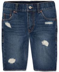 Image of Levi's® 511 Distressed Cotton Denim Shorts, Big Boys